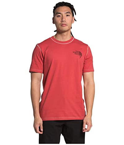 The North Face Dome Climb Short Sleeve Tee (Sunbaked Red/Vintage White) Men