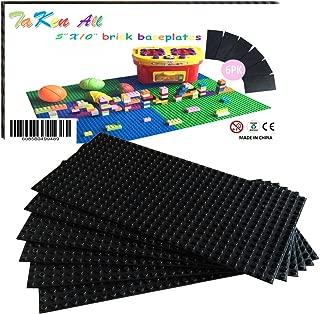 Building Bricks Block Base Plates - Black 6 Pack of 5