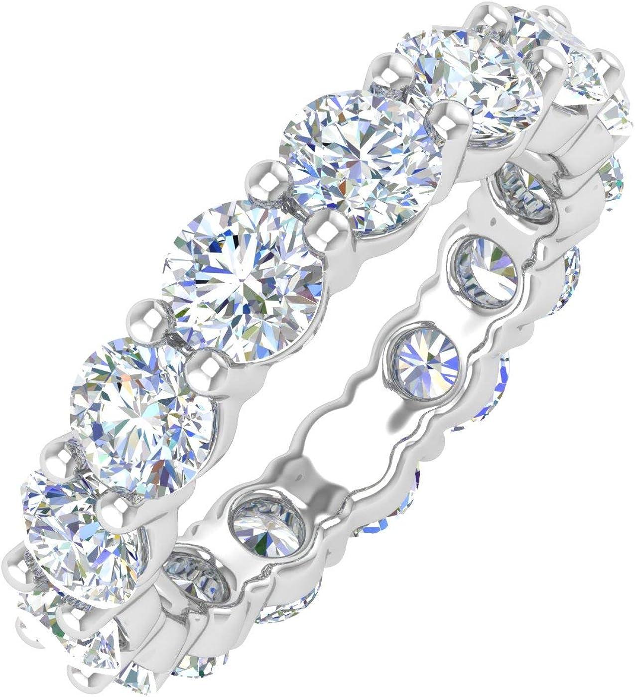 5 Carat Diamond Eternity Wedding バースデー 記念日 ギフト 贈物 お勧め 通販 Band ショップ Ring Cer IGI Gold in - 14K