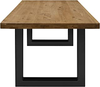 Table Chene Massif Moderne.Amazon Fr Table Salle Manger Chene Massif