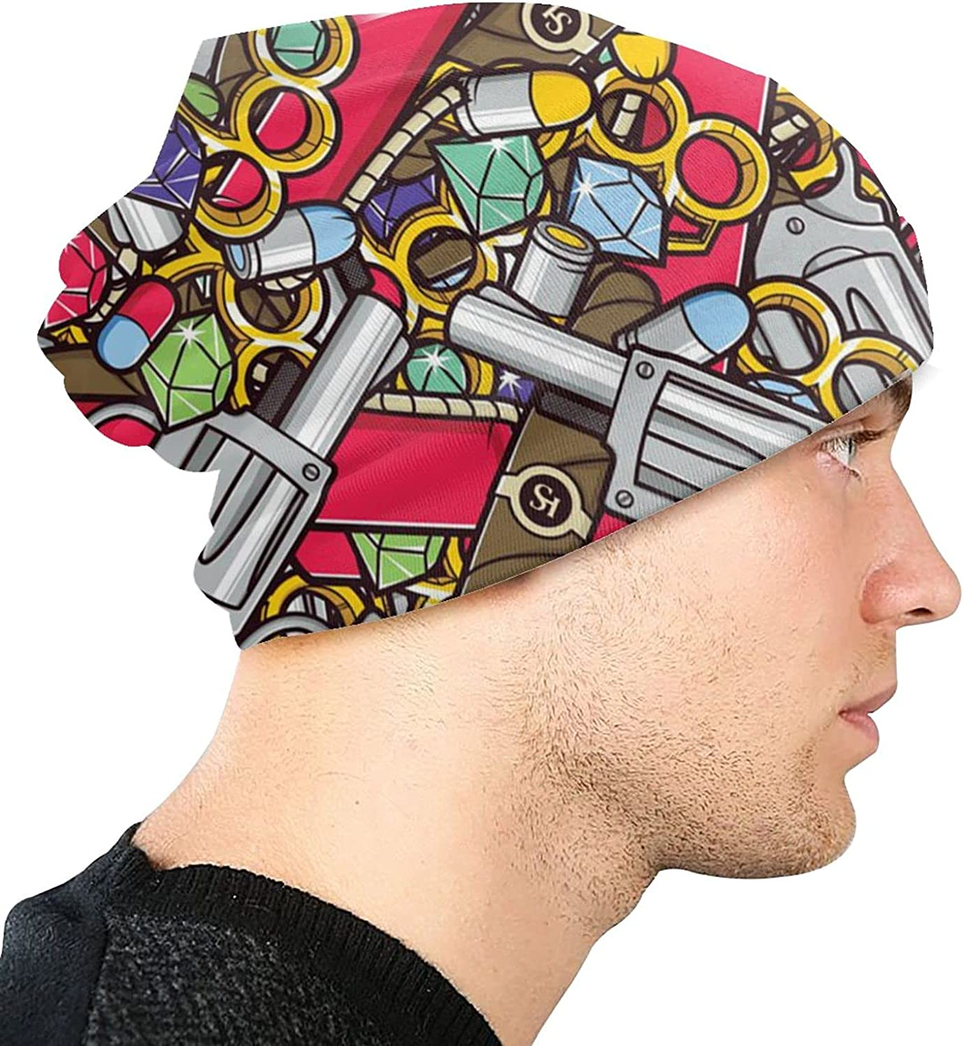 ZENGCY Lowest price challenge Gangster Pattern Seamless Adult Fashion Polar Knit Hat Fl Max 80% OFF