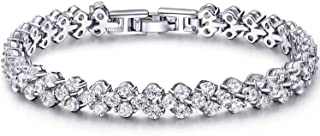 Bracelet for Women Birthstone Charm Eternal Love Crystal Jewelry for Women Girl