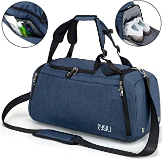 Sports Duffle Bag with Shoes Compartment and Wet Pocket, 42L Waterproof Gym Bag for Men and Women, Durable Travel Duffel Bag with Shoulder Strap and Combination Lock