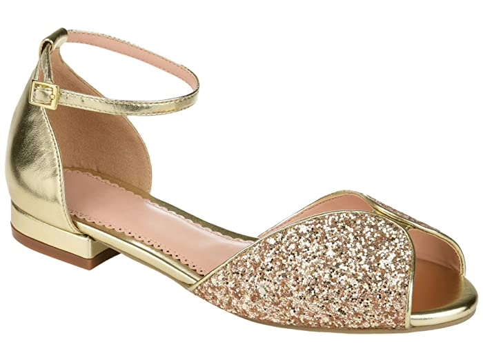 Vintage Shoes, Vintage Style Shoes Journee Collection Verona Flat Gold Womens Shoes $24.99 AT vintagedancer.com