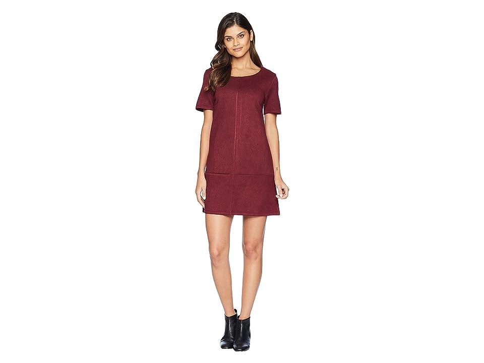 Bishop + Young Super Suede Shift Dress (Burgundy) Women
