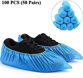 Rameng 50 Paires de Surchaussures Jetables Couvre-chaussures Antid/érapants Chaussons Jetables Hygi/éniques