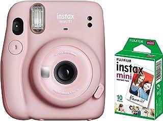 Fujifilm Instax Mini 11 Instant Camera + 1 Pack Film- Blush Pink