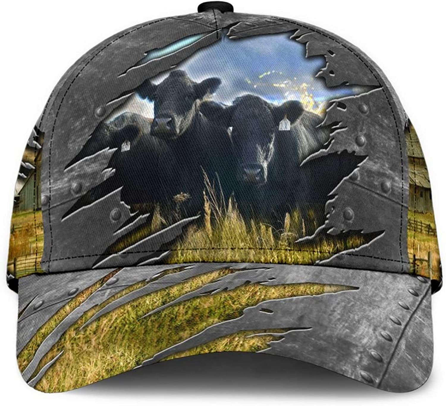 Cow Men's Women's Trucker Hat, Baseball Cap - One Size Fits All - Cow Lover Personalized Caps Series 3