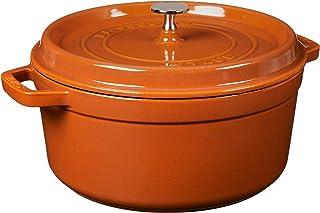 STAUB Cast Iron Round Cocotte, 5.5-quart, Burnt Orange