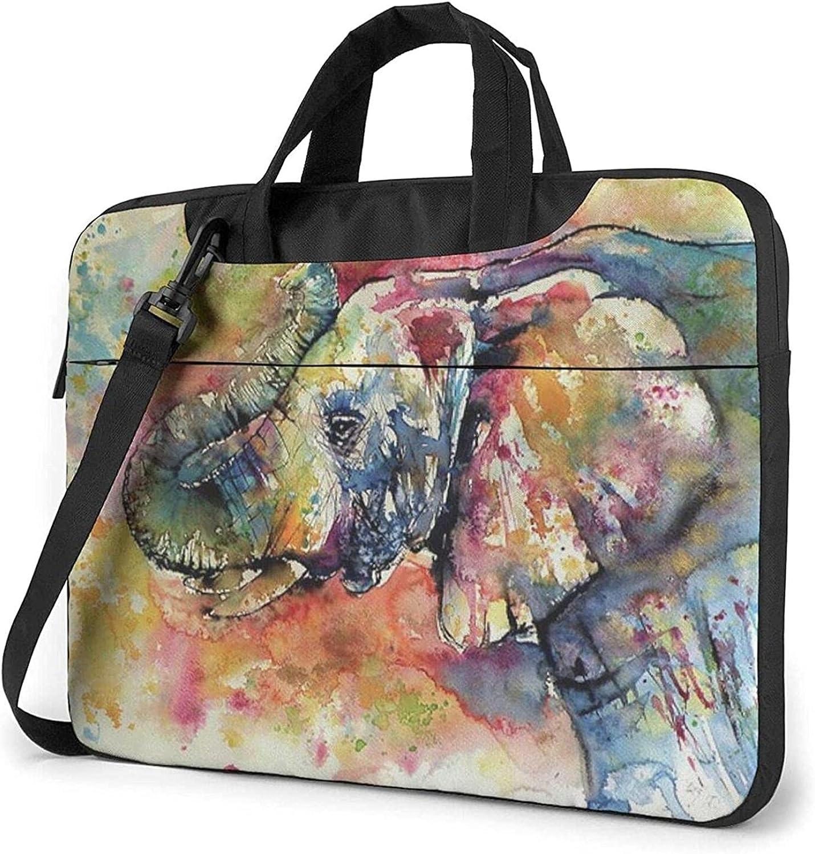 Epushow Watercolor Elephant Al sold out. Laptop Bag 40% OFF Cheap Sale Me Shoulder Inch 14 Strap