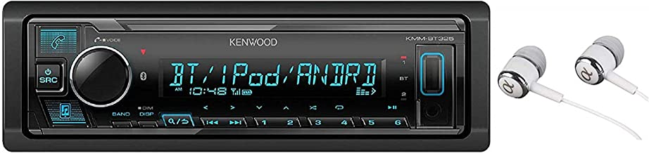 Kenwood KMM-BT325 Bluetooth USB MP3 WMA AM/FM Digital Media Player Dual Phone Connection Pandora Car Stereo Receiver/Free Alphasonik Earbuds