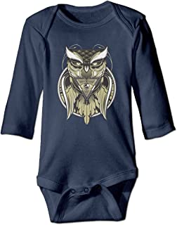 Beholder Owl Unisex Long-sleeve Baby High Quality Climb Clothes Navy