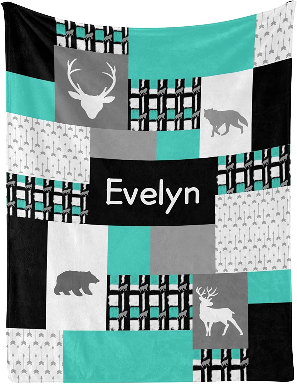 Deer 2021 model Bear Faux Patchwork Quilt OFFicial Blank Baby Personalized Receiving