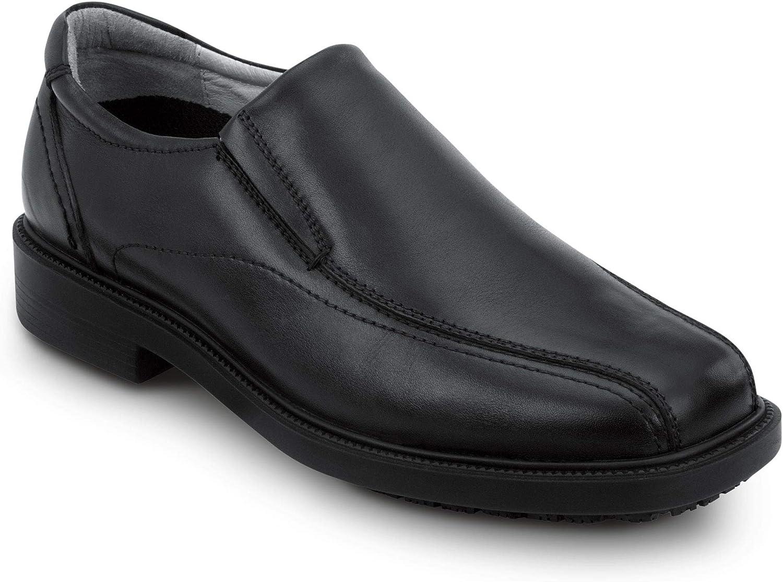 SR Max Brooklyn, Men's, Black, Twin Gore Dress Style Soft Toe Slip Resistant Work Shoe