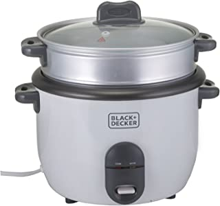 Black & Decker 1.8 Liter Rice Cooker - White, RC1860-B5