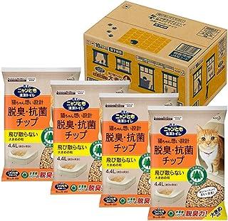 ニャンとも清潔トイレ 脱臭・抗菌チップ 大容量 大きめ 4.4L×4個(ケース販売) [猫砂] システムトイレ用 4.4リットル (x 4)