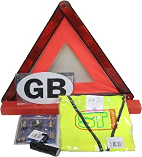 Travel Abroad Euro Warning Triangle Kit European Driving EU Emergency Car