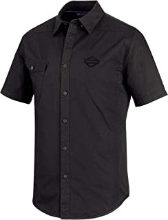 Men's Performance Vented Stretch Slim Fit Shirt, Black