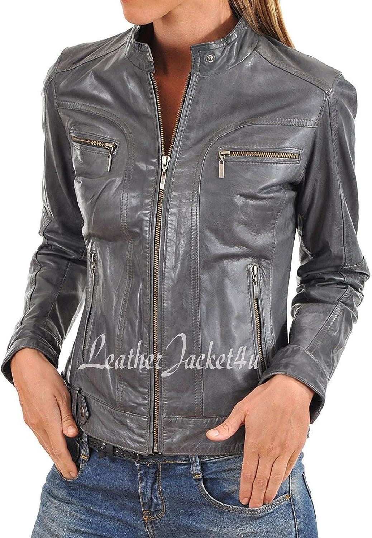 Women's Stylish Genuine Lambskin Leather Jacket 143