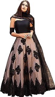 4f6b5a39771ac8 Ghaludi Fab Women's Heavy Embroidered Semi Stitched lehenga choli With  Blouse Piece (Free Size)