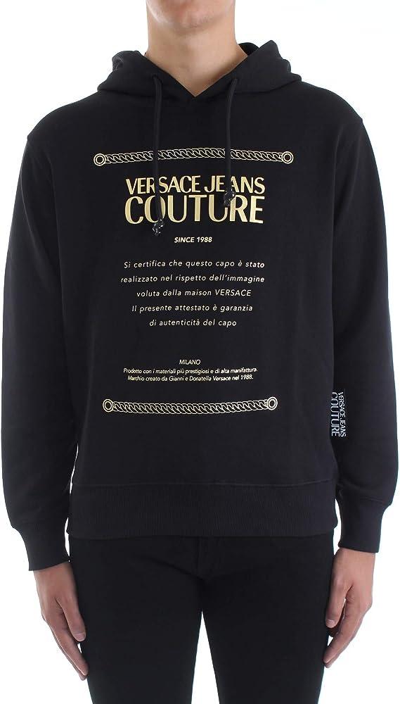 Versace jeans couture, felpa per uomo, in cotone al 100 % B7GZA7TP