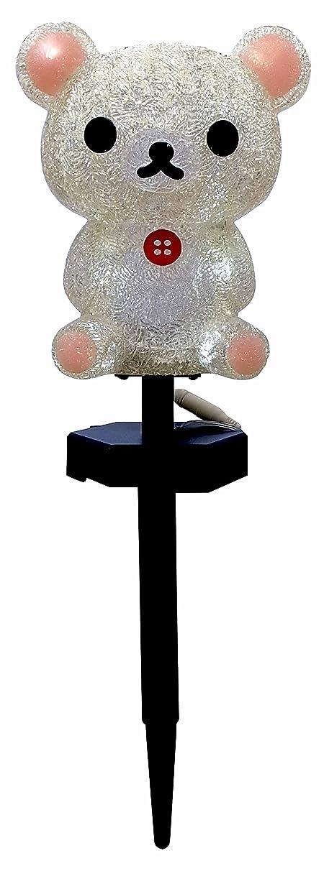 方向楽なキャプテンブライクリスマス 3Dタイプ LEDイルミネーション コリラックマ ガーデンソーラーライト