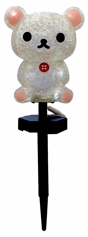 鎮静剤グラフィック延ばすクリスマス 3Dタイプ LEDイルミネーション コリラックマ ガーデンソーラーライト