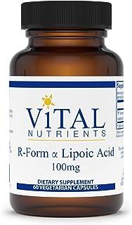 Vital Nutrients - R-Form Lipoic Acid - Multi-Purpose Nutrient with Powerful Antioxidant Properties - 60 Capsules per Bottl...