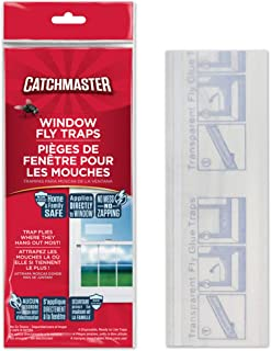 Catchmaster Bug & Fly Clear Window Fly Traps - Pack of 48 Traps