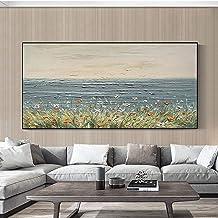 Handgeschilderd Olieverfschilderij - Moderne Natuurlijke Landschap Handgeschilderde Mes Bloemen Olieverfschilderij Canvas ...