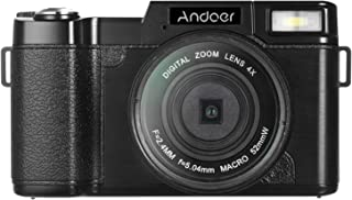"Andoer r r R1 1080P 15fps Full HD 24MP Digital Camera Cam Camcorder 3.0"" Rotatable LCD Screen Anti-shake 4X Digital Zoom R..."