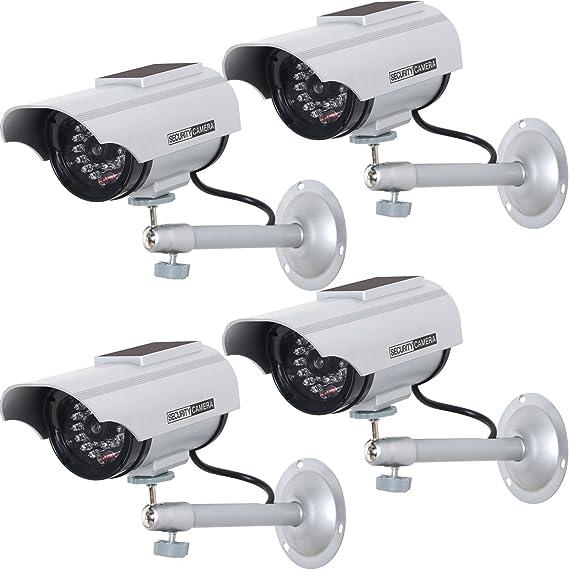 WALI Solar-Powered Dummy Security CCTV Cameras