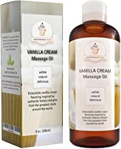 Edible Vanilla Erotic Massage Therapy Oils with Powerful Aphrodisiac & Skin Care Benefits - Natural Carrier Oils for Sensual Massage with Jojoba Sweet Almond & Coconut Oil - Therapeutic Muscle Relief
