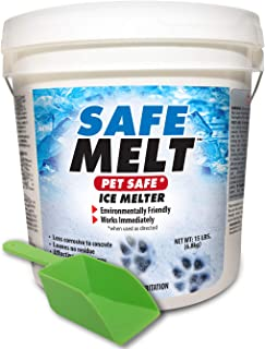 Harris Safe Melt Pet Friendly Ice Melter, Fast Acting Magnesium Chloride Formula, 15lb with Scoop Included Inside Bucket