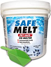HARRIS Safe Melt Pet Friendly Ice Melter, Fast Acting 100% Pure Magnesium Chloride Formula, 15lb with Scoop Included Inside Bucket
