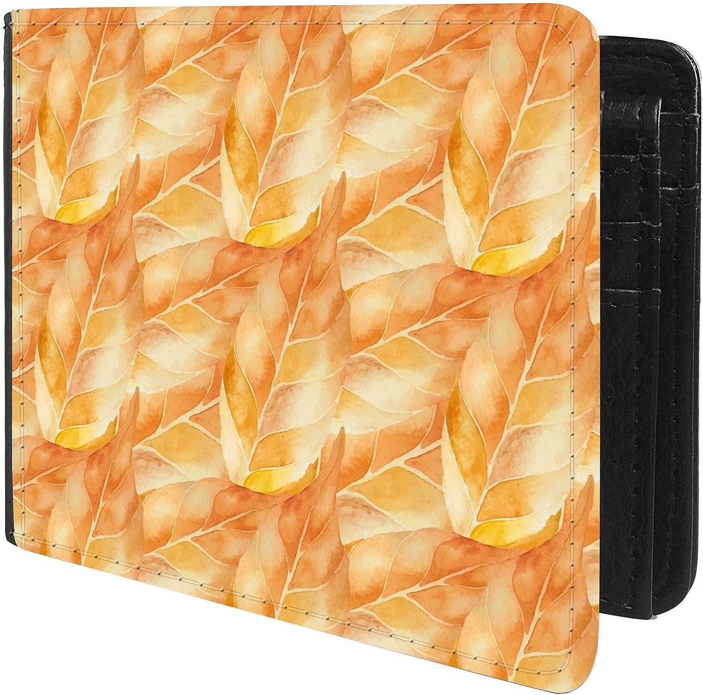 Unique Desige Pattern - Autumn Max 87% OFF pattern Pocket leaves 1 year warranty Front Slim