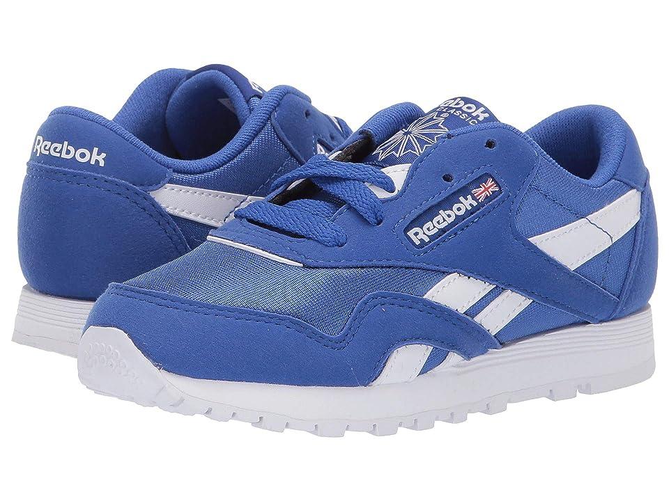 Reebok Kids Classic Nylon MU (Little Kid) (Cobalt/White) Kids Shoes
