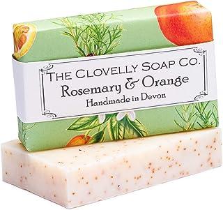 Clovelly Soap Co. Handgemachte Rosmarin & Orange Naturseife für alle Hauttypen 100g