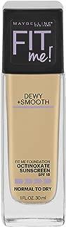 Maybelline New York Fit Me Dewy + Smooth Foundation Makeup, Light Beige, 1 Fl. Oz (Pack of 1)