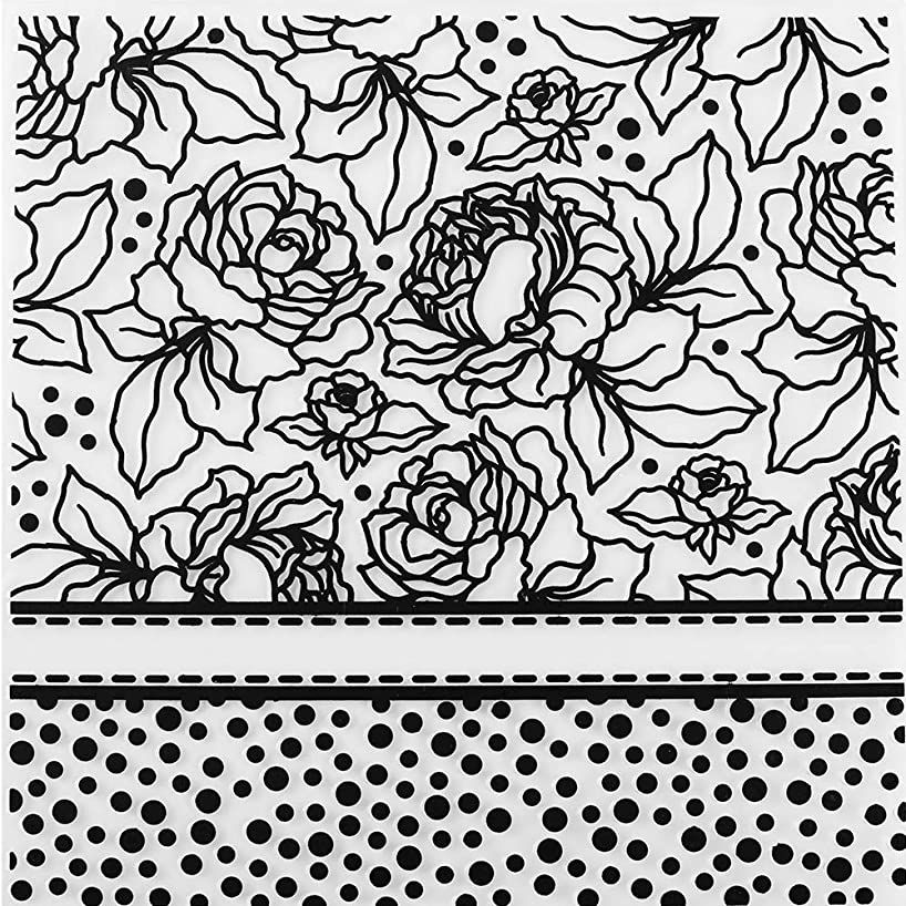 MaGuo Flower and Dot Plastic Embossing Folder Template for Card Making Scrapbooking DIY Crafts