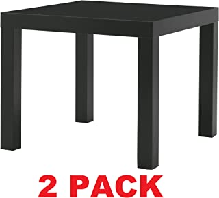 Ikea Table End Side Black (2 Pack) Lack