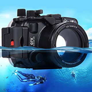 PULUZ 40m Underwater Depth Diving Case Waterproof Camera Housing for Canon G7 X