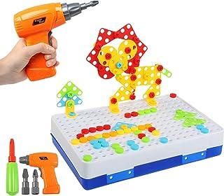 BelleStyle Puzzles 3D Montessori Juguetes 237PCS, Tablero de Mosaico Juguete eléctrico Rompecabezas Bricolaje construcción...