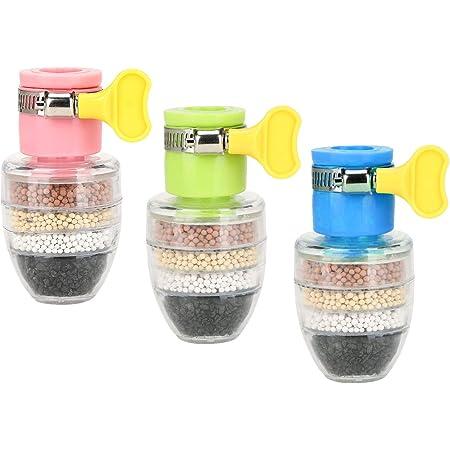 EACHPT 3pcs rubinetto acqua carbone attivo filtrazione a 6 strati mini filtro rubinetto acqua depuratore rubinetto da cucina filtro per lacqua del rubinetto purificatore d'acqua per bagno