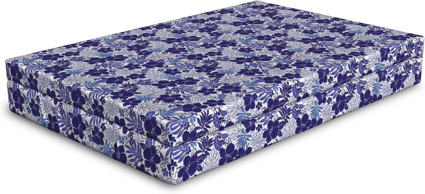 Ambesonne Botanical Dog Bed Monstera Pa Flowers NEW Finally popular brand Hibiscus Leaves