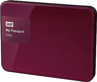 WD My Passport Ultra WDBGPU0010BBY-NESN - Disco Duro Externo portátil (1 TB, USB 3.0), Rojo