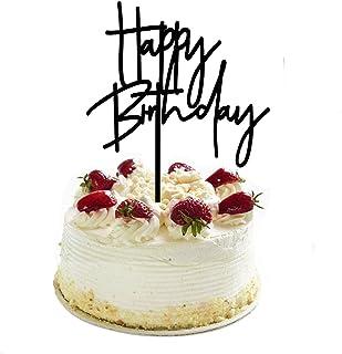 DIY اکریلیک کیک Topper Black تولدت مبارک