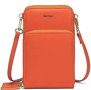 NoChoX Handtasche Damen Umhängetasche Handytasche Zum Umhängen Geldbörse Portemonnaie mit Vielen Fächern Kartenfach - Vers...