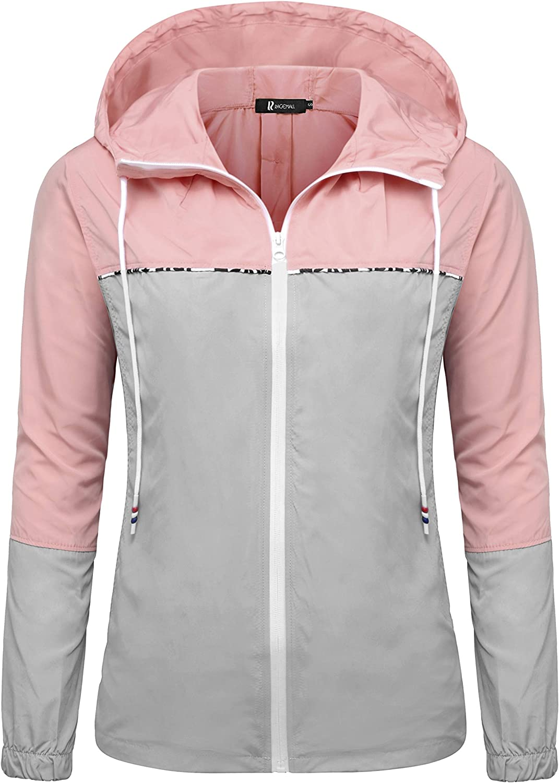 RAGEMALL shopping Women's Waterproof Raincoats Lightweight Regular dealer Windb Packable