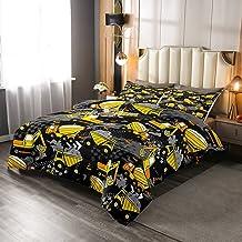 Manfei Cartoon Car Comforter Twin Size, Excavator Transporter Truck Bedding Set for Kids Boys Teens Room Decoration Constr...
